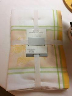 Mi Casa Es Tu Casa Made In Portugal 100% Cotton Wh Yel Gr 60 X 84 Tablecloth  NWT