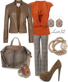 """Autumn Orange"" by christa72 ❤ liked on Polyvore"