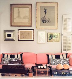 love me a pink couch | india hicks
