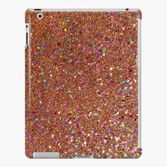 Orange Glitter iPad Snap Case by Grit & Glitter. Find more cute, trendy, glittery tech accessories, phone cases, gifts, apparel and more at www.shopgritandglitter.com ♥