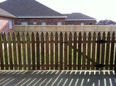 Pretty French Gothic picket fence!