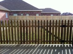 Pretty French Gothic picket fence!