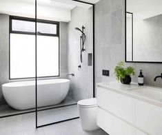 A century-old Elsternwick home received a modern renovation Bathroom Renos, Bathroom Layout, Modern Bathroom Design, Bathroom Interior Design, Small Bathroom, Bathroom Ideas, Bathroom Renovations, Shower Ideas, Wet Room Bathroom