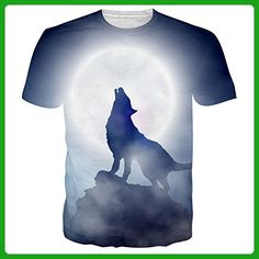 Uideazone Men's Wolf T-Shirt Cool Graphics Tees Top - Animal shirts (*Amazon Partner-Link)