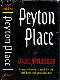 Peyton Place book jacket - loved the TV series in the 60's.