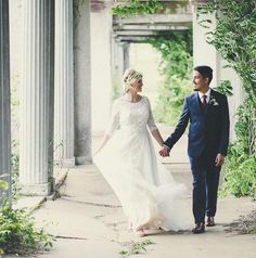 Bride in @willowbywatters Amelie gown by Adam Hanly Photo.