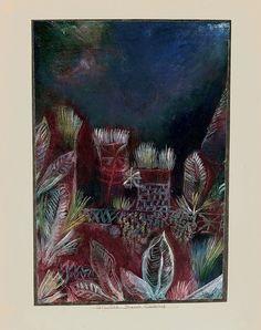 """Tropical Twilight,"" 1921, Paul Klee. 33.5 x 23 cm."