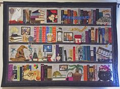 A Harry Potter fan-art quilt made for my daughter-in-law using multiple quilting techniques.
