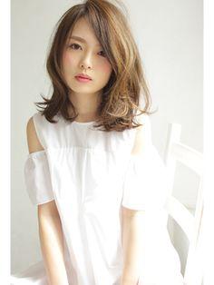 【central】ゆるふわくびれミディ - ヘアスタイル・髪型・ヘアカタログ [キレイスタイル]