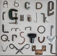 Found Object Alphabet