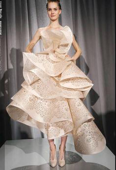 marchesa origami lazer cut insanity