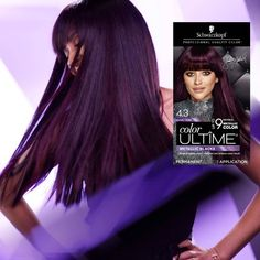 Schwarzkopf Color Ultime Metallic Violet Permanent Hair Color – - All For Hair Color Balayage Dark Purple Hair, Dyed Hair Purple, Hair Color Purple, Cool Hair Color, Dark Hair, Pelo Color Morado, Schwarzkopf Color, Hair Color Shades, Permanent Hair Color
