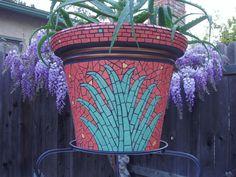 Mosaic pot by Tina Burnight