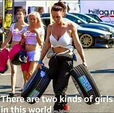 girls can be divided into two different camps 640 20 There are two types of girls Photos) Land Cruiser 200, Toyota Land Cruiser, Car Jokes, Car Humor, Foto Fails, Two Types Of Girls, Racing Quotes, Car Girls, Motocross