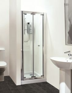 shower bi fold shower door pinterest