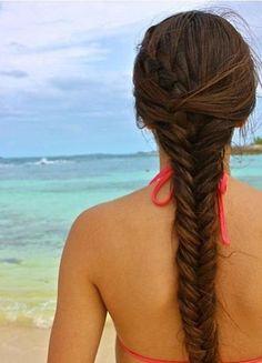 Cute fishtail braid! -Tween/Teen Hair  Nails