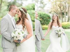 Our Real Bride, Tyler looks stunning in her Augusta Jones gown!