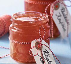 Rhabarber-Konfitüre mit Ginger Ale                              -                                  Eine fruchtig-frische Konfitüre mit Rhabarber