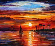 """Sunset"" by Leonid Afremov"