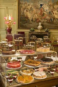 At the tea salon in the Jacquemart André museum: Jill Colonna Author Mad about Macarons : The Good Life France