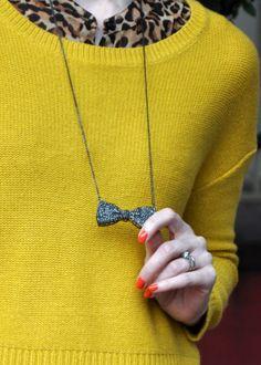 Macy's Bow necklace via today-i-want.com