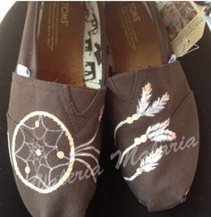 Dream catcher Toms shoes by ValeriaMalariaArt on Etsy
