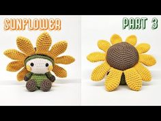 SUNFLOWER PART 3 | CHEEKS, SEW & ASSEMBLING | HOW TO CROCHET | AMIGURUMI TUTORIAL - YouTube Crochet Stitches, Knit Crochet, Crochet Patterns, Amigurumi Tutorial, Doll Parts, Crochet Videos, Arms, Teddy Bear, Dolls