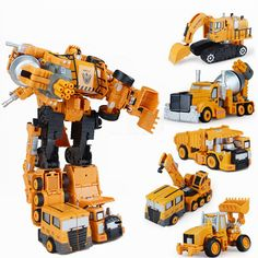 Transformation Robot Alloy Engineering Car Deformation Toy Crane Truck Assembly Robot Toys Engineering cars 2 in 1 Kids Gifts. Click visit to buy