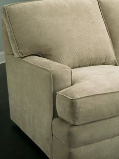 Soft neutrals are timeless; they'll never go out of style. Pair them with fun throw pillows and pretty rugs to put your personal stamp on a room. Visit http://kincaidfurniture.com/ to build a custom sofa.