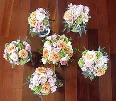 Some romantic spring wedding bouquets