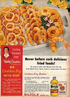 Mazola Corn Oil - Golden Fry Batter from Family Circle, April 1958