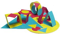 kinder or first--pre-cut or fold-cut (symmetry) the base papers and allow the kids to glue them in any arrangement they want. Pre cut thick strips to do the 3D ones.
