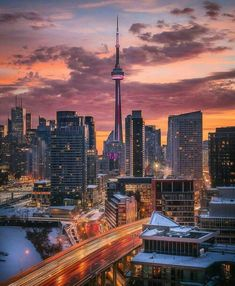 The most beautiful places in Canada: Canada is a country in the northern part of North America. Its ten provinces.The most beautiful places in Canada. Toronto Skyline, Downtown Toronto, Toronto Photography, City Photography, Vancouver, City Aesthetic, Travel Aesthetic, Toronto Canada, Torre Cn