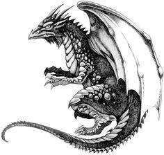 black and white tattoo designs dragon 3d Dragon Tattoo, Celtic Dragon Tattoos, Dragon Tattoo Designs, Funny Tattoos, Cool Tattoos, Tatoos, Dragon Nails, Rainbow Serpent, Tattoo Themes