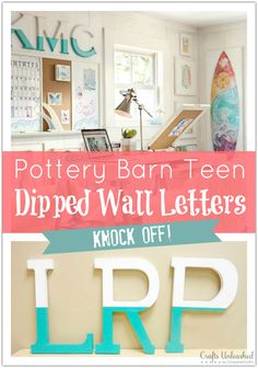 Wall Letter Decor Tutorial: Pottery Barn Teen Knock Off