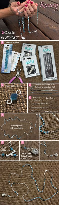 Make your own special Rosary following this easy DIY step-out.