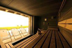 Klafs Sauna at Hotel Cervo Zermatt, Switzerland Zermatt, Studios, Outdoor Sauna, Steam Bath, Hotels, Saunas, Home Remodeling, Windows, House