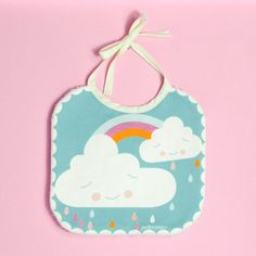 baby bib happy cloud in high quality cotton fabric by PinkNounou, €11.00