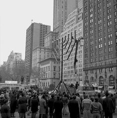 Find this Pin and more on Old New York. The menorah lighting ... & A menorah lighting at Grand Army Plaza in Manhattan. 1977. | 1977 ... azcodes.com