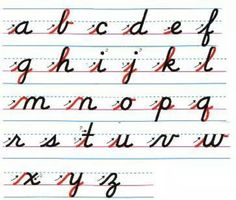 cursive writing worksheet | back to the index enchanted learning ...