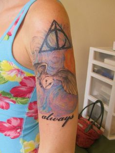 Harry Potter tats are always adorable.