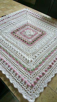 Ravelry: Project Gallery for Lace Baby Blanket pattern by Baby Dear