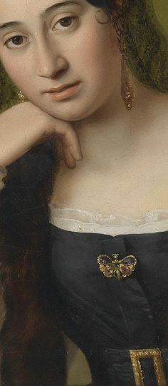 Natale Schiavoni, Detail from Portrait of a Pensive Woman