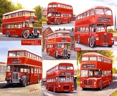 Cooperline: A portfolio of the transport art and photography of W. Road Transport, London Transport, Public Transport, Rt Bus, American Flag Wallpaper, Blue Bus, Nostalgic Art, Routemaster, Double Decker Bus