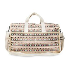 Mossimo Supply Co. Triangle Print Weekender Duffle Handbag - Beige Triangle  Print 97fa6bdd1b4af