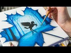 (2) Pegasus in Maple Leaf -  Acrylic painting / Homemade Illustration(4k) - YouTube