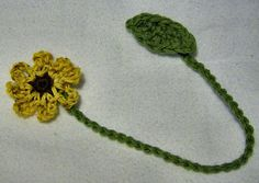 Ravelry: ASE's Sunflower Bookmark-Crochet Pattern pattern by Anita Elmore