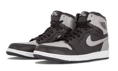 Jordan Nike Mens Air 1 Retro High OG Shadow BlackSoft Grey Leather  Basketball Shoes Size 95     Details can be found by clicking on the image. 175cbc8b9
