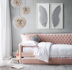 >>>Cheap Sale OFF! >>>Visit>> Tweens are full of new ideas and independence. Find the perfect grown up fashionable adorable style and decor for your perfect tween girl bedroom! Bedroom Decor For Teen Girls, Teen Girl Bedrooms, Tween Girls Bedroom Ideas, Girls Bedroom Light, Tween Beds, Grown Up Bedroom, Pink Bedrooms, Daybed Room, Daybed Bedding