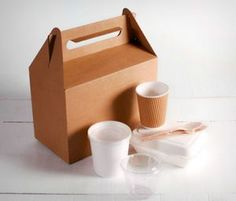 Large kit of Take Away Boxes - SelfPackaging Picnic Box, Thick Cardboard, Desserts Menu, Paper Crafts, Diy Crafts, Cutlery Set, Food Design, Diy For Kids, Container